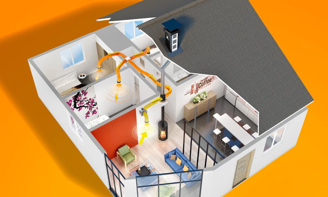 récupérer et redistribuer la chaleur dans sa maison - A Combien Chauffer Sa Maison