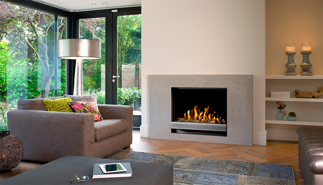 le chauffage au gaz performant et conomique chemin es poujoulat. Black Bedroom Furniture Sets. Home Design Ideas