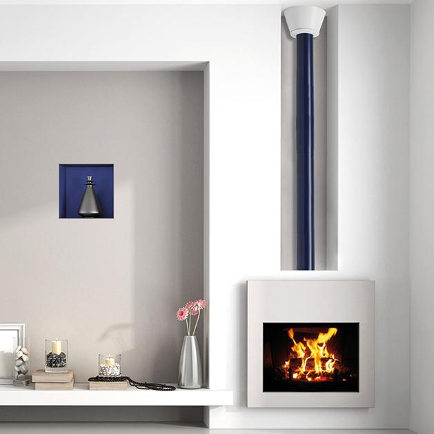 Habillage ventil pour conduits de raccordement po le for Habillage conduit cheminee exterieur