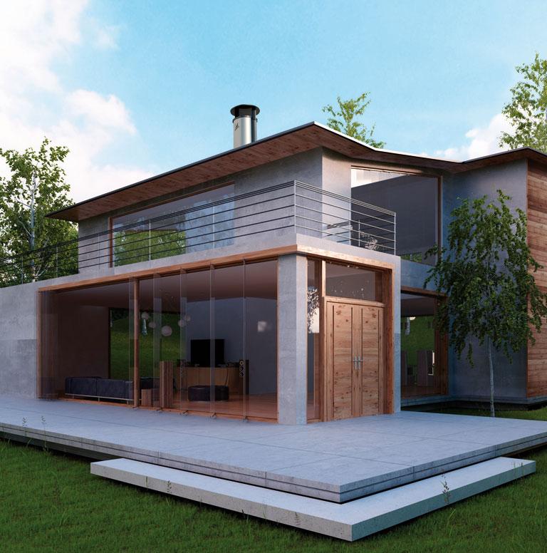 Sortie de toit optimale design pour habitat moderne et for Habitat contemporain