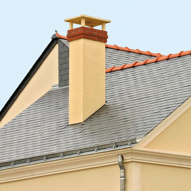 Sortie de toit tradinov carr e m tallique pour maison individuelle chemin es poujoulat - Chapeau de cheminee en beton ...