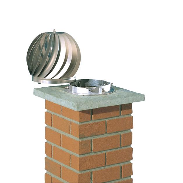 Turbine m canique qui optimise le tirage des conduits de fum e chemin es poujoulat - Extracteur de fumee pour cheminee ...