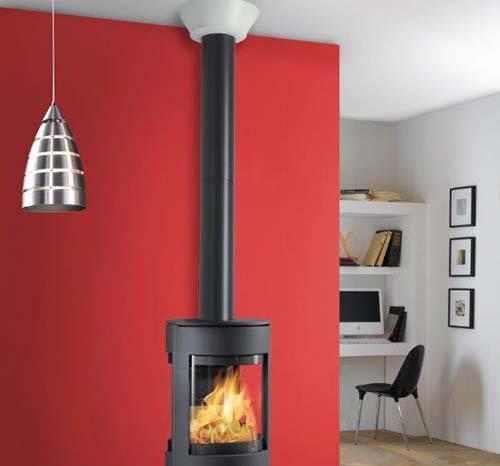 Habillage ventil pour conduits de raccordement po le for Installer une cheminee dans une maison