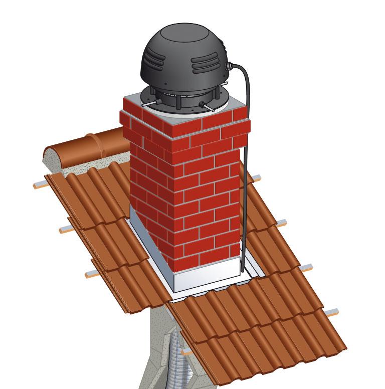 Aspire fum e aspirotec extracteurs lectrique pour vacuation des fum es chemin es poujoulat - Extracteur de fumee pour cheminee ...