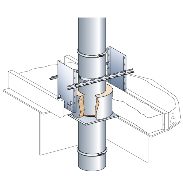 Coquille isolante pour le traitement des ponts thermique for Isolation des tuyaux de chauffage