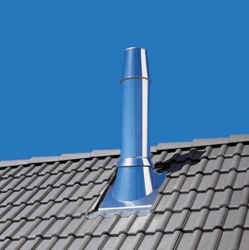 Conduit de fumisterie maill e raccordement pour po le for Conduit cheminee exterieur poujoulat