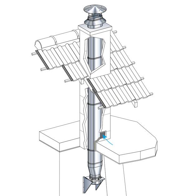 Extraordinaire Tuber un conduit de cheminée droit et rectangulaire RN-38