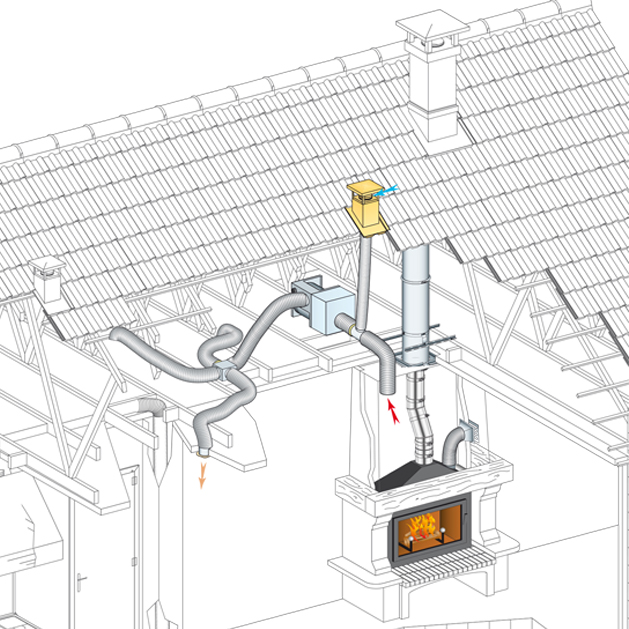 grille hotte cheminee insert. Black Bedroom Furniture Sets. Home Design Ideas
