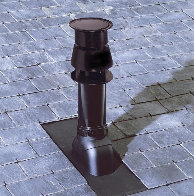 Conduit de chemin e pour chaudi res gaz et fioul tanches for Conduit cheminee exterieur poujoulat